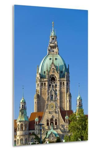 Germany, Lower Saxony, Hannover, Friedrichswall, New City Hall, City Hall Tower-Chris Seba-Metal Print