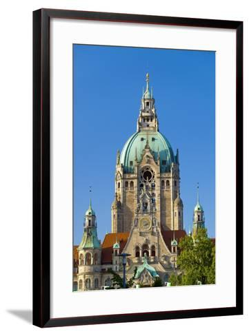 Germany, Lower Saxony, Hannover, Friedrichswall, New City Hall, City Hall Tower-Chris Seba-Framed Art Print