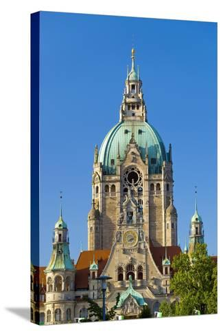 Germany, Lower Saxony, Hannover, Friedrichswall, New City Hall, City Hall Tower-Chris Seba-Stretched Canvas Print