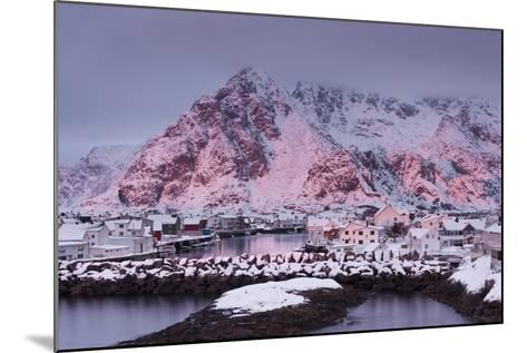 Henningsvaer (Fishing Village), Ausvagoya (Island), Lofoten, 'Nordland' (County), Norway-Rainer Mirau-Mounted Photographic Print
