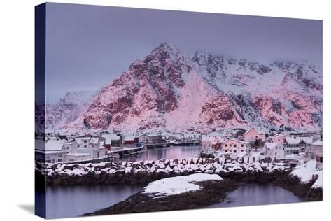 Henningsvaer (Fishing Village), Ausvagoya (Island), Lofoten, 'Nordland' (County), Norway-Rainer Mirau-Stretched Canvas Print