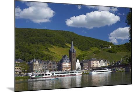 Germany, Rhineland-Palatinate, Moselle Valley, Bernkastel-Kues, the Moselle, Tourboats-Chris Seba-Mounted Photographic Print