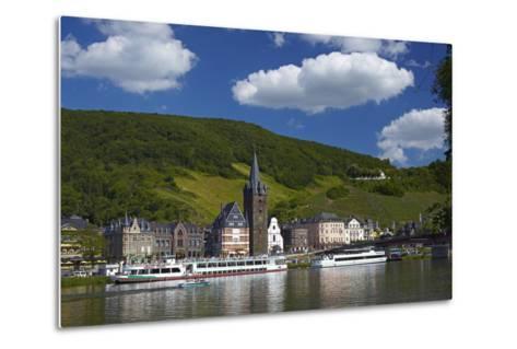 Germany, Rhineland-Palatinate, Moselle Valley, Bernkastel-Kues, the Moselle, Tourboats-Chris Seba-Metal Print