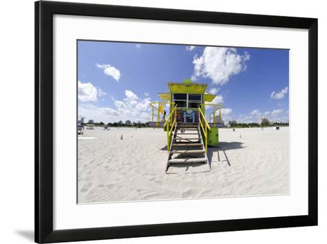 Beach Lifeguard Tower '12 St', in Art Deco Style, Miami South Beach-Axel Schmies-Framed Art Print