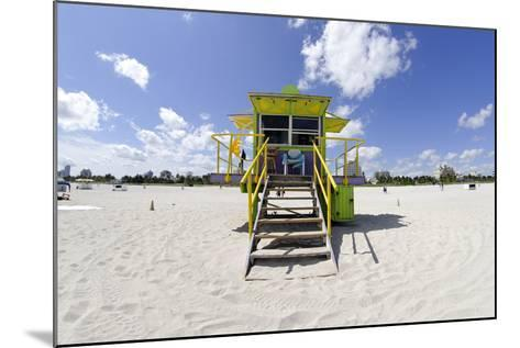 Beach Lifeguard Tower '12 St', in Art Deco Style, Miami South Beach-Axel Schmies-Mounted Photographic Print