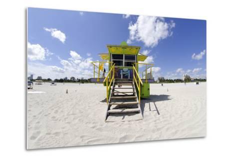 Beach Lifeguard Tower '12 St', in Art Deco Style, Miami South Beach-Axel Schmies-Metal Print