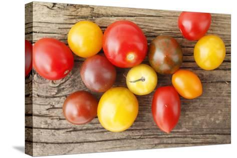 Tomatoes, Wooden Underground-Nikky-Stretched Canvas Print
