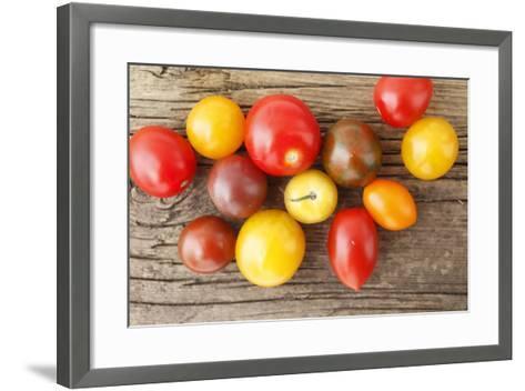 Tomatoes, Wooden Underground-Nikky-Framed Art Print