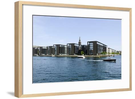 Modern Architecture in the District Christianshavn, Copenhagen, Denmark, Scandinavia-Axel Schmies-Framed Art Print