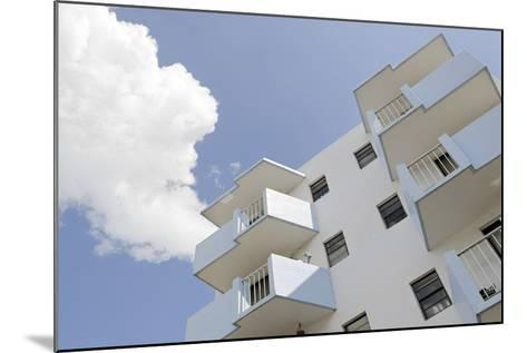 Residential House, Balconies, Art Deco Architecture, Washington Avenue, Miami South Beach-Axel Schmies-Mounted Photographic Print