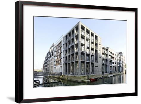 Modern Architecture, Apartments in Sluseholmen, Copenhagen, Denmark, Scandinavia-Axel Schmies-Framed Art Print