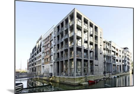 Modern Architecture, Apartments in Sluseholmen, Copenhagen, Denmark, Scandinavia-Axel Schmies-Mounted Photographic Print