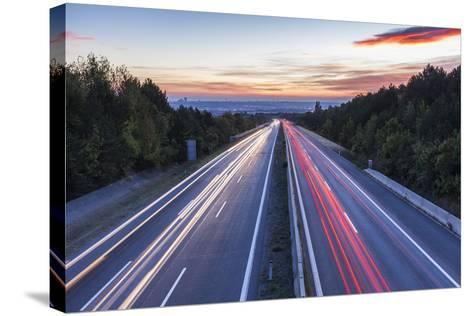 Wiener Au§enring Autobahn A21' (Highway), View from Gie§hŸbl to Vienna, Austria, Europe-Gerhard Wild-Stretched Canvas Print