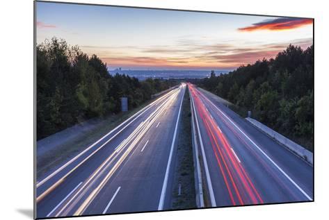 Wiener Au§enring Autobahn A21' (Highway), View from Gie§hŸbl to Vienna, Austria, Europe-Gerhard Wild-Mounted Photographic Print