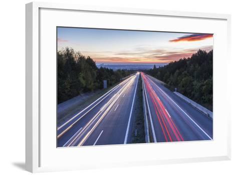 Wiener Au§enring Autobahn A21' (Highway), View from Gie§hŸbl to Vienna, Austria, Europe-Gerhard Wild-Framed Art Print
