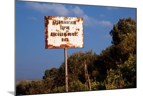 Greece, Crete, Archaeological Excavation Roussolakos, Sign-Catharina Lux-Mounted Photographic Print