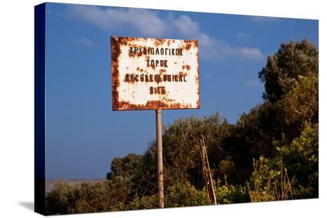 Greece, Crete, Archaeological Excavation Roussolakos, Sign-Catharina Lux-Stretched Canvas Print