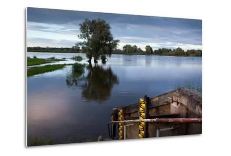 Germany, Brandenburg, Oder-Neisse Cycle Route, Water Level at the Oder-Catharina Lux-Metal Print
