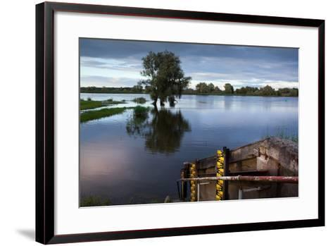 Germany, Brandenburg, Oder-Neisse Cycle Route, Water Level at the Oder-Catharina Lux-Framed Art Print