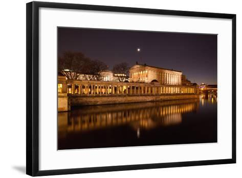 Berlin, Museumsinsel (Museum Island), UNESCO World Heritage, Night-Catharina Lux-Framed Art Print