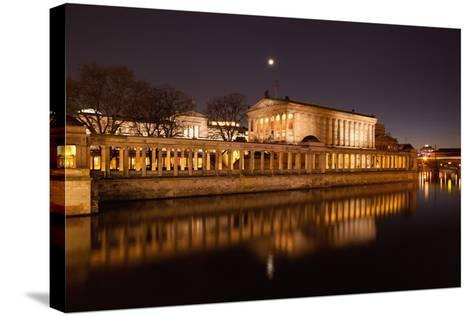 Berlin, Museumsinsel (Museum Island), UNESCO World Heritage, Night-Catharina Lux-Stretched Canvas Print