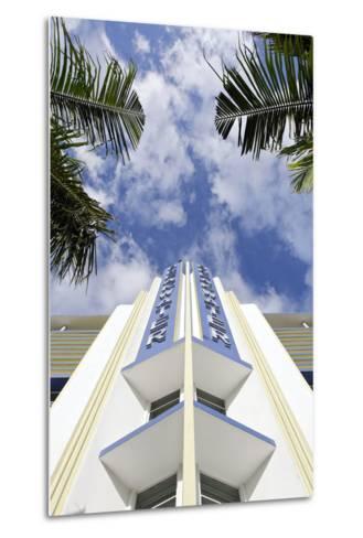 Breakwater Hotel, Facade, Art Deco Hotel, Ocean Drive, South Miami Beach-Axel Schmies-Metal Print