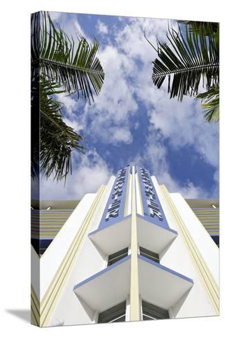 Breakwater Hotel, Facade, Art Deco Hotel, Ocean Drive, South Miami Beach-Axel Schmies-Stretched Canvas Print