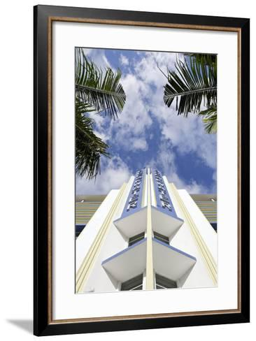 Breakwater Hotel, Facade, Art Deco Hotel, Ocean Drive, South Miami Beach-Axel Schmies-Framed Art Print