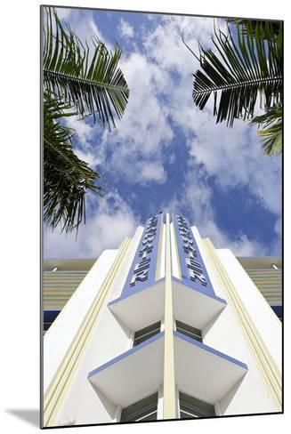 Breakwater Hotel, Facade, Art Deco Hotel, Ocean Drive, South Miami Beach-Axel Schmies-Mounted Photographic Print
