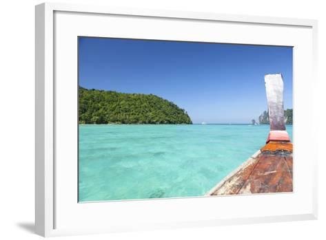 Longtail Boat Cruise at Koh Phi Phi, Thailand, Andaman Sea-Harry Marx-Framed Art Print