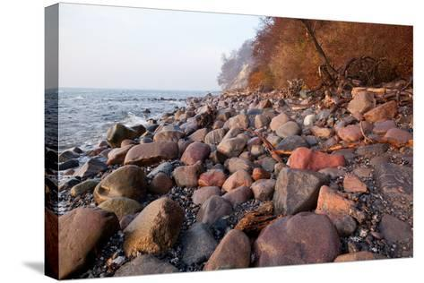 The Baltic Sea, National Park Jasmund, Stony Beach-Catharina Lux-Stretched Canvas Print