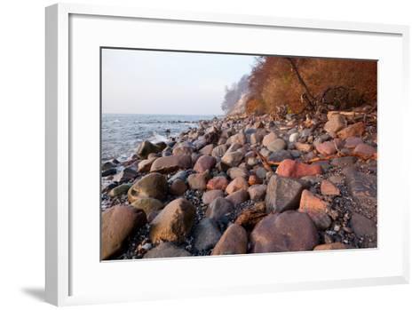The Baltic Sea, National Park Jasmund, Stony Beach-Catharina Lux-Framed Art Print