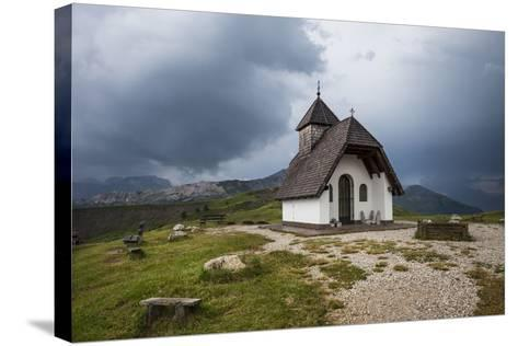 Chapel at the Plateau of the Pralongia, Close Corvara, Val Badia, South Tyrol, Italy, Europe-Gerhard Wild-Stretched Canvas Print