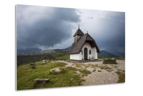 Chapel at the Plateau of the Pralongia, Close Corvara, Val Badia, South Tyrol, Italy, Europe-Gerhard Wild-Metal Print