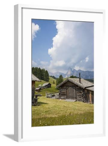 Alpine Huts at the Plateau of the Pralongia, St. Kassian, Val Badia, South Tyrol, Italy, Europe-Gerhard Wild-Framed Art Print