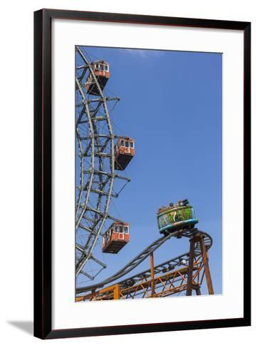 Big Wheel and Rollercoaster, 'Prater', 2nd District, Vienna, Austria, Europe-Gerhard Wild-Framed Art Print