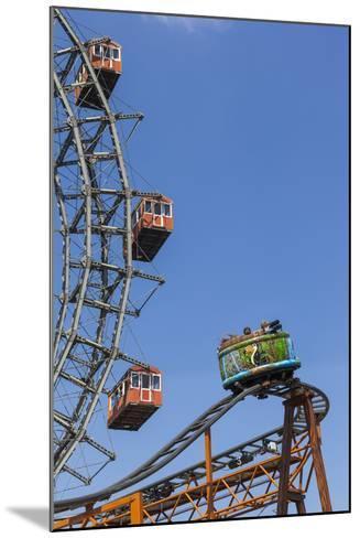 Big Wheel and Rollercoaster, 'Prater', 2nd District, Vienna, Austria, Europe-Gerhard Wild-Mounted Photographic Print