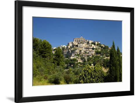Europe, South of France, Provence, Gordes, Townscape-Chris Seba-Framed Art Print