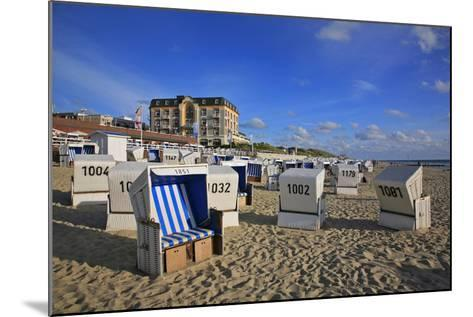 Beach Chairs on the Beach in Front of the 'Hotel Miramar' in Westerland on the Island of Sylt-Uwe Steffens-Mounted Photographic Print