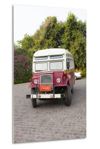Oldtimer at Bagan Picking Up Tourists for Balloon Flight over Ancient Temples of Bagan-Harry Marx-Metal Print