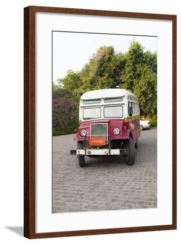 Oldtimer at Bagan Picking Up Tourists for Balloon Flight over Ancient Temples of Bagan-Harry Marx-Framed Art Print