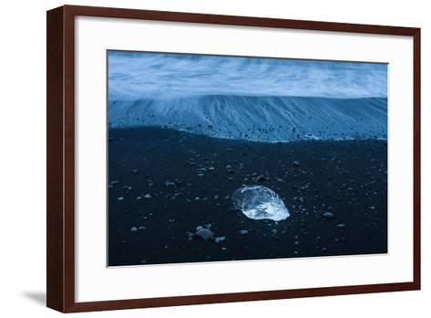 Jškulsarlon, Iceberg Remains on the Atlantic Beach-Catharina Lux-Framed Art Print