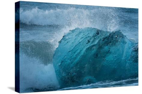 Jškulsarlon, Iceberg Remains on the Atlantic Beach-Catharina Lux-Stretched Canvas Print