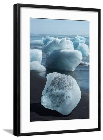 Atlantic Coast with Iceberg Remains at the Jškulsarlon-Catharina Lux-Framed Art Print