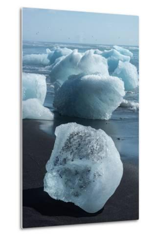 Atlantic Coast with Iceberg Remains at the Jškulsarlon-Catharina Lux-Metal Print