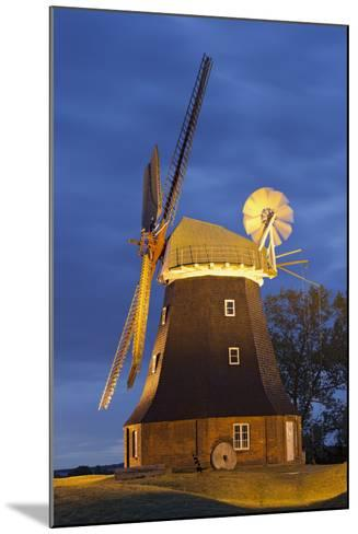 Windmill by Stove, Mecklenburg-Western Pomerania, Germany-Rainer Mirau-Mounted Photographic Print