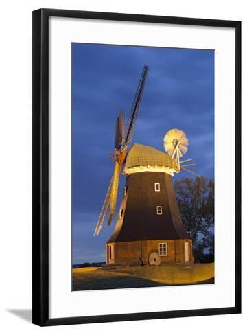 Windmill by Stove, Mecklenburg-Western Pomerania, Germany-Rainer Mirau-Framed Art Print