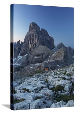 Zwšlferkofel, 'BŸllele Joch HŸtte' Hut, South Tyrol, the Dolomites Mountains, Italy-Rainer Mirau-Stretched Canvas Print