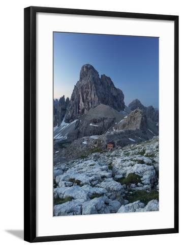 Zwšlferkofel, 'BŸllele Joch HŸtte' Hut, South Tyrol, the Dolomites Mountains, Italy-Rainer Mirau-Framed Art Print