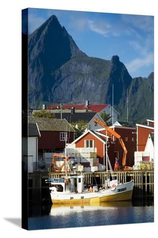Scandinavia, Norway, Lofoten, Moskenesoey, Hamnoy-Rainer Mirau-Stretched Canvas Print
